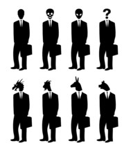 Businessmen With Strange Heads