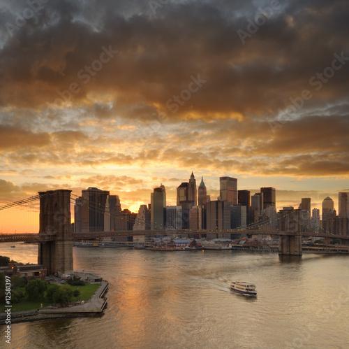 Foto-Flächenvorhang - New York manhattan (von dell)