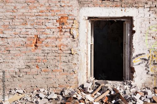 Photo sur Aluminium Ruine abandoned house