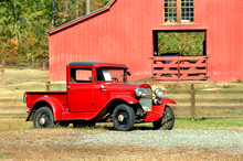Antique Truck And Barn