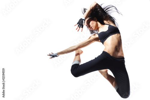 Küchenrückwand aus Glas mit Foto Tanzschule modern style dancer