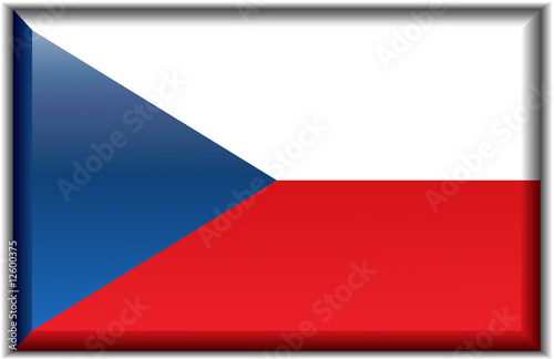 Flag of the Czech Republic Fototapet