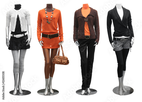fashion dress on mannequin #12605508
