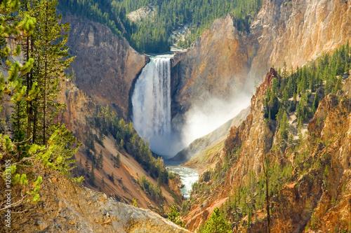 Fotografia, Obraz Yellowstone Falls