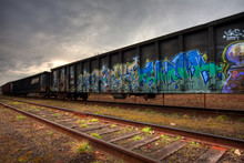 Rail Cars Parked On The Tracks