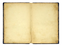 Open Old Blank Book Isolated O...