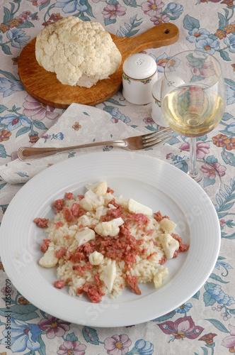 Photo  Risotto con salsiccia e cavolfiore
