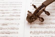 Vintage Violin Neck Resting On...
