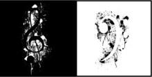 Black & White Vector Music Background