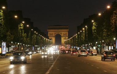 Panel Szklany Miasto Nocą notturno parigino
