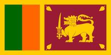 Sri Lanka Fahne Flag