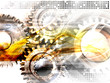 canvas print picture - abstract futuristic cogwheels background