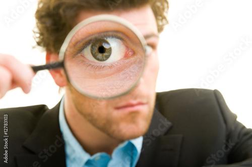 Fotografie, Tablou  Lupe vor Auge