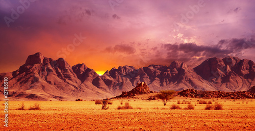 Photo sur Toile Orange eclat Namib Desert
