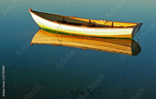 Photographie  Cape Cod Row Boat and Reflection