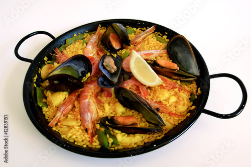 Photographie  Riz espagnol: paella