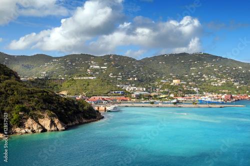 Fotografie, Obraz  View of the Island of Saint Thomas, USVI