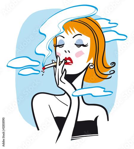 Valokuvatapetti fumatrice