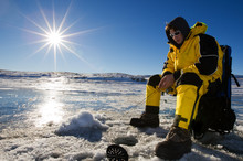 Sunny Ice Fishing