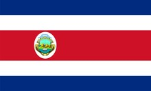 Flag Of Costa Rica. Illustration Over White Background
