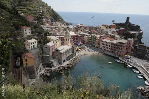 Fotobehang Liguria Vernazza, Cinque terre