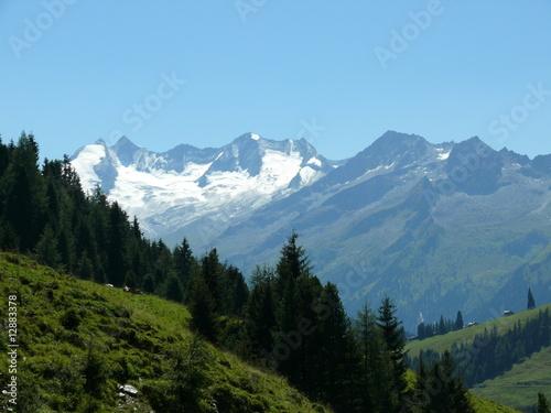 Tuinposter Alpen Blick von den Kitzbüheler Alpen zur Reichenspitzgruppe