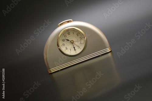 Fotografie, Obraz  on a black background alarm clock