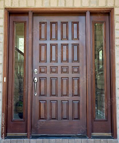 Photo  Wooden Front Door