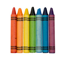 Rainbow Of Colored Crayons