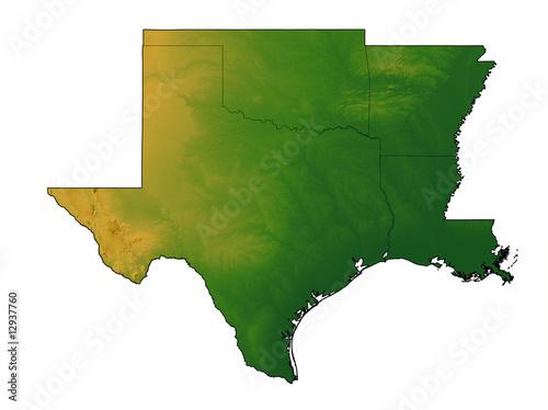 Map Of Texas Oklahoma And Louisiana.Terrain Map Of Texas Oklahoma Arkansas And Louisiana Buy This