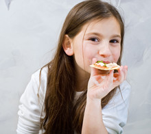 Young Girl Pizza