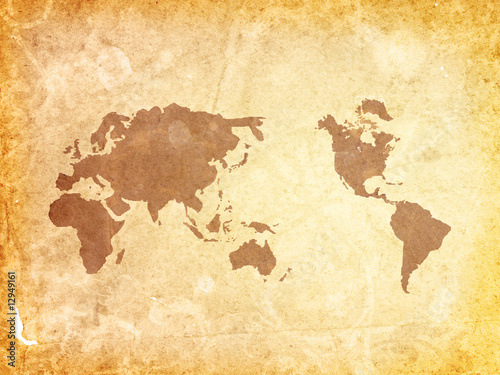 Foto auf AluDibond world map