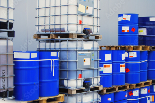 Barrel on pallet Fototapet