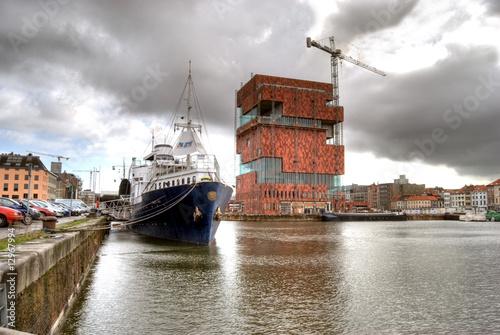 Foto op Plexiglas Antwerpen Hafencity Antwerpen
