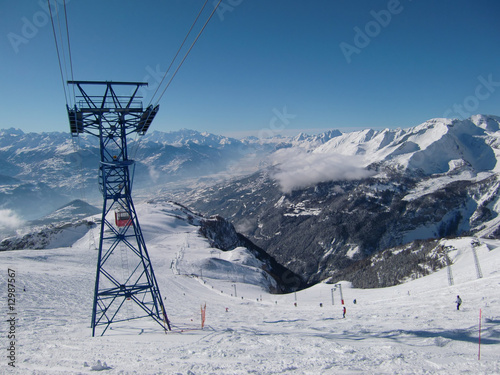 Fotografie, Obraz Skistation: Crans