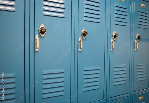 Fotografia, Obraz School lockers at an angle