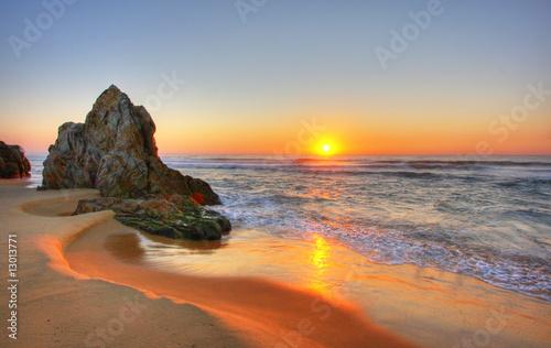 Foto-Leinwand - Sunrise Rocks