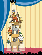 Acrobatic Pets-Stage Right
