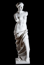 "White Marble Classic Statue ""Aphrodite Of Milos"" Isolated"