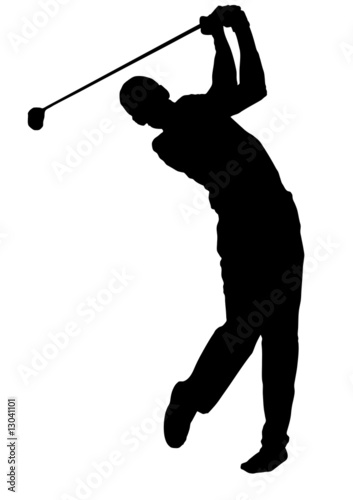 golf vettoriale Poster Mural XXL