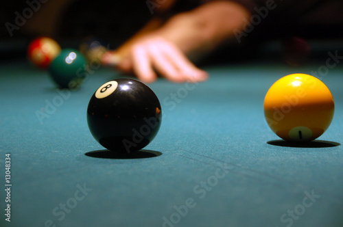 Fotografie, Tablou  play billiards (pool)