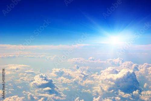 Photo sunrise air view