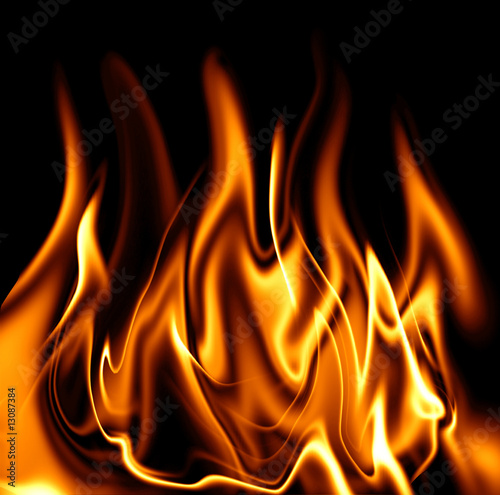 Poster Flamme feuer