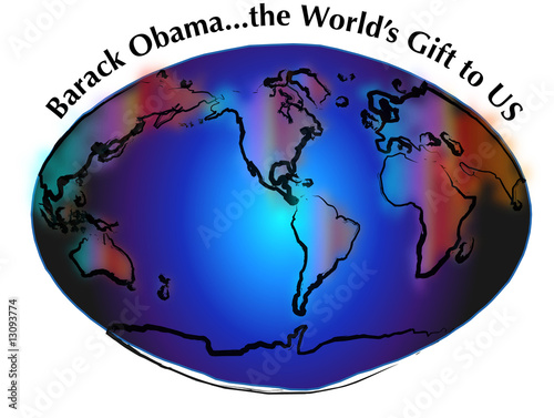 Fotografia, Obraz Barack Obama, Worl'ds Gift to Us