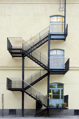 Obraz na plátně Fire escape