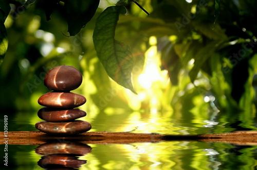 Akustikstoff - Steine am Wasser