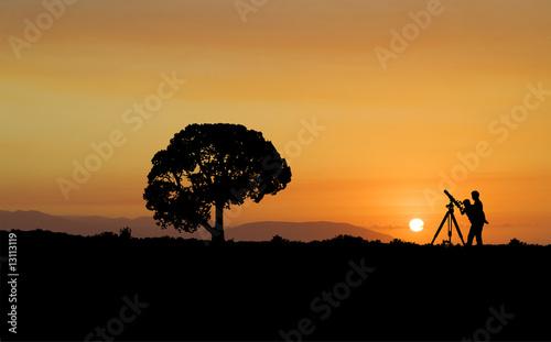 Foto op Aluminium Jacht Star gazing at sunset
