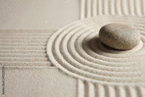 Foto op Plexiglas Stenen in het Zand Zen stone