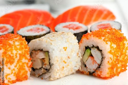 Poster Sushi bar Sushi, close-up