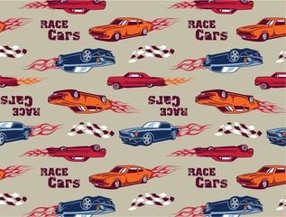 Race Cars seamless